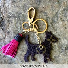 Authentic Upcycled and Recycled Louis Vuitton Monogram Canvas Bull Terrier Charm with Snap On and Key Fob and Mini Tassel