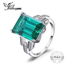 JewelryPalace Luxury Created Emerald Cocktail Ring Real 925 Sterling Silver Rings for Women Fine Jewelry Accessories 18k Gold Jewelry, Sterling Silver Jewelry, Gemstone Jewelry, Fine Jewelry, Silver Rings, 925 Silver, Sterling Sliver, Tiffany Jewelry, Silver Metal
