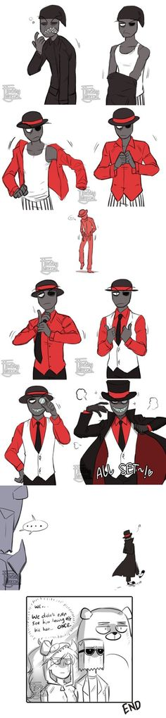 ComicDoodle || Villainous - Dressing up Dapper Man by FloatingMegane-san