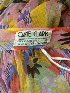 Detalhe Ossie Clark 70s