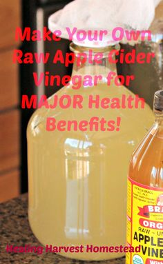 How to Make Your Own Raw Apple Cider Vinegar (Delicious & Healthy!) from Scraps!  http://www.healingharvesthomestead.com/home/2016/11/11/how-to-make-your-own-raw-apple-cider-vinegar-delicious-healthy-from-scraps  Heidi Villegas