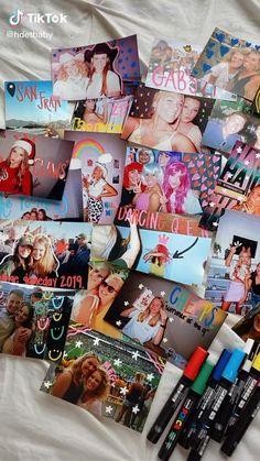Friend Scrapbook, School Scrapbook, Scrapbook Journal, Diy Best Friend Gifts, Bff Gifts, Bff Birthday Gift, Birthday Gifts For Best Friend, Posca Marker, Doodle On Photo