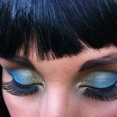 Cleopatra makeup for Halloween! Cleopatra Makeup, Egyptian Makeup, Halloween 2014, Halloween Makeup, Halloween Costumes, Makeup Looks, Hair Makeup, Dress Up, Hair Beauty