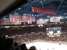 Oooo that's an awful lot of championship banners ya got there Motown.(Joe Lewis Arena)