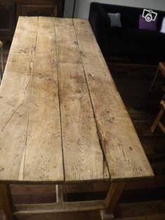 Table de ferme  Uw Franse tafel in de maat die u precies wilt? Justus & Tjebbo Interieur maakt het voor u! Niet van oude, antieke tafels te onderscheiden maar wél stevig, op de juiste hoogte en vaak voor de halve prijs!Eiken tafelFranse tafel antiekOude tafel op maatAntieke eettafel geleefd