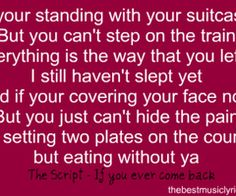 If you ever come back-the script