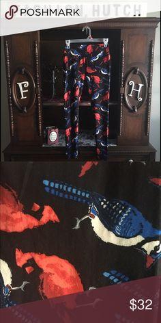 8b79b5d60f2a04 Shop Women's LuLaRoe Black Blue size OS Leggings at a discounted price at  Poshmark. Description: LuLaRoe bird leggings NWT beautiful with black  background.