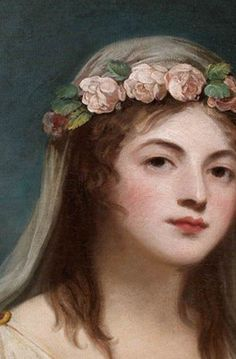 .:. ROMNEY, George -Portrait of Lady Emma Hamilton as Flora