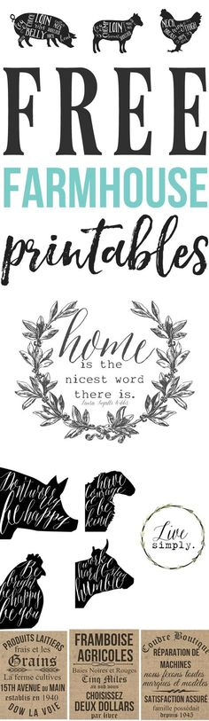 Free Farmhouse Printables For Your Home — The Mountain View Cottage