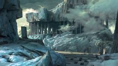 ArtStation - The thawing of Labyrinth City , Tristan Kang Fantasy Landscape, Fantasy Art, What Is Thinking, Fantasy Places, Fantasy Setting, City Art, Art Lessons, Concept Art, Art Projects