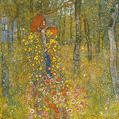 Farm Garden with Crucifix - Gustav Klimt  1912