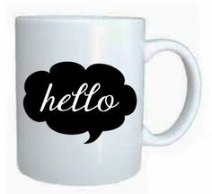 Hello mug by Susie creativa