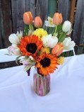 Perfect for a rustic backyard Autumn wedding.