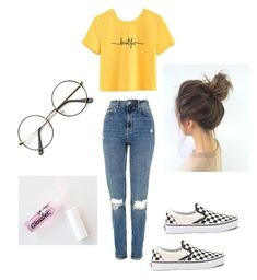 """""""Untitled #135"""" by haileymagana on Polyvore featuring Topshop and Vans"""