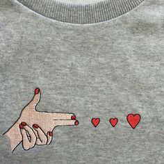 TAOVK Russian style design new 2016 women Autumn/Winter sweatshirt Gray chest embroidery pattern pullover sweatshirts Tumblr Shirt, Fashion Mode, Womens Fashion, 90s Fashion, Inspiration Mode, Soft Grunge, Mode Style, Ideias Fashion, Shirt Designs