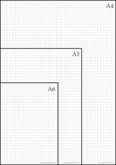 Printable dot grid paper for my bullet journal. Different sizes: A4 + A5 + A6