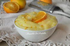 Crema all'arancia per farcire dolci. Crema leggera e profumata. Ideale per farcire dolci o per creare originali dolci al cucchiaio. Senza glutine