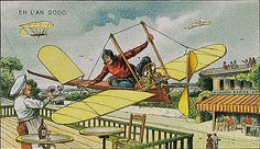 """One for the Road"" from a collection of French postcards from 1910 imagining life in ""En L'An 2000""."