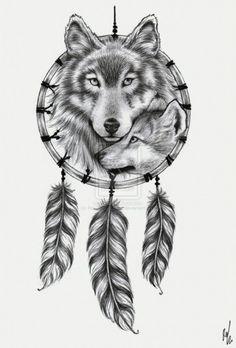 visage de loup dessin - Recherche Google