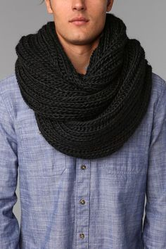 UO Double Cable Knit Eternity Scarf...it's for a guy but I don't even care, I'm obsessed.