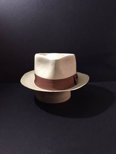Panama Hat New Custom Made Stingy Brim Straw Fedora Size 7 1 8 870e512fb222