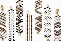 sara cramer | geometric patterned bracelet with clasp