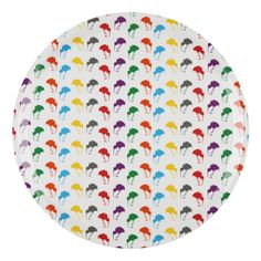 Kiwi Splendour Round Serving Tray - dining - gift for cook - gift for friend - exotic bird - rainbow - funky - quirky - Space 1a
