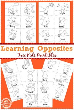 *FREE* Learning Opposites Printables