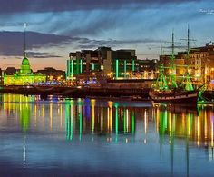 Reflections on the River Liffey, Dublin