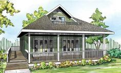 Vacation Cabin With Bonus Above - 72781DA | Cottage, Country, Vacation, Narrow Lot, 1st Floor Master Suite, Bonus Room, Butler Walk-in Pantry, CAD Available, PDF, Wrap Around Porch | Architectural Designs