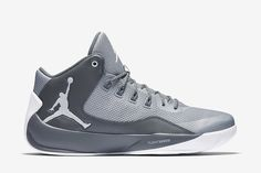 Jordan Rising High 2 Men's Basketball Shoe: Wolf Grey/Cool Grey/Infrared 23/White