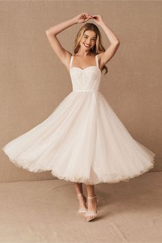 Little White dresses for brides in lace, sparkle, and sleek silhouettes. As couples turn to more intimate gatherings or even to elopements, short wedding dresses are gaining popularity. We've put together a shoppable guide of the best short wedding dresses you can buy online! #gws #greenweddingshoes #littlewhitedresses #shortweddingdresses Wedding Dress Tea Length, Cute Wedding Dress, Best Wedding Dresses, Bridesmaid Dresses, Civil Wedding Dresses, Gown Wedding, Wedding Blog, Wedding Reception, Wedding Photos
