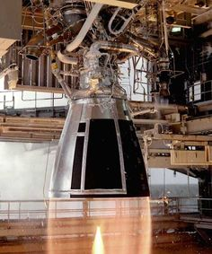 RS-68 Rocket Engine is a liquid hydrogen & lox powered used in Delta IV launch vehicle family. http://aerospaceguide.net/rocketengines/rs-68.html #rocket #engines