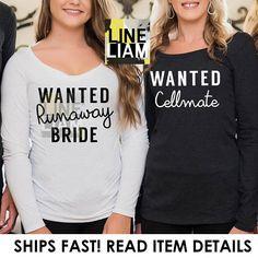 criminal bridesmaid shirt, long sleeve bridesmaid, bachelorette shirts, bridesmaid shirts,  squad shirt, bridesmaid tank tops, team bride,