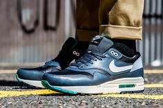 Nike Air Max 1 Leather Black/Ivory-Dark