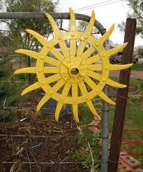 Recycling farm equipment into yard art