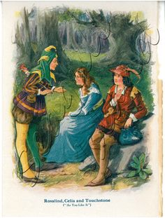 As You Like It - 1917 Children's Shakespeare Book Illustration