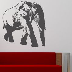 "Style and Apply Elephant Wall Decal Size: 46"" H x 50"" W, Color: Dark Green"