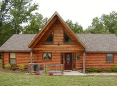 Branson Cabin Rental: True Log Home Experience, 3 Bdr/2ba | HomeAway  $854 total for 4days and 3 nights