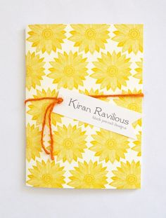 Yellow Sunburst Notebook by Kiran Ravilious