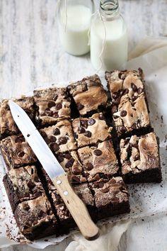 Dark Chocolate Fresh Plum Wholewheat Meringue Tray Bake