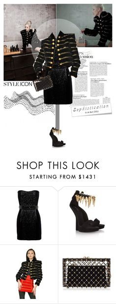 """""""The calculative love of adults..."""" by createjewels ❤ liked on Polyvore featuring Balmain, Giuseppe Zanotti and Charlotte Olympia"""