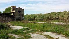 Veduta di costruzione abbandonata presso l'Arno