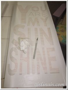 Silhouette stencil using contact paper