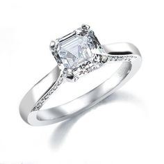 CR41EA - The Royal Asscher Cut engagement ring.  The Asscher's are the most amazing diamond cutters in the world.