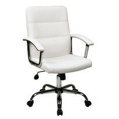 Lowest price online on all Avenue Six Malta White Office Chair - MAL26-WH