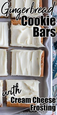 Gingerbread Cookie Bars Cookie Desserts, Cookie Bars, Bar Cookies, Holiday Baking, Christmas Baking, Chewy Gingerbread Cookies, Gingerbread Recipes, Christmas Dishes, Christmas Goodies