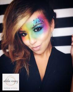 Pride Makeup pride loveislove pridemonth mua rainbowmakeup unicornmakeup is part of eye-makeup - eye-makeup Bronze Eye Makeup, Rose Gold Makeup, Smokey Eye Makeup, Burlesque Makeup, Rave Makeup, Cheer Makeup, Gothic Makeup, Make Up Gold, Eye Make Up