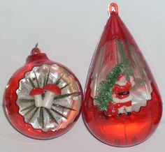 56 Best Vintage Plastic Christmas Ornaments Images In 2014