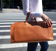 tan 24 hours bag by kika ny :: Roztayger :: Modern Bags & Accessories